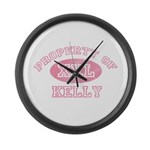 Property of Kelly Large Wall Clock
