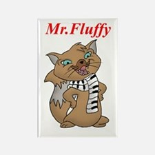 Mr.Fluffy Rectangle Magnet