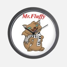 Mr.Fluffy Wall Clock