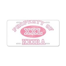Property of Keira Aluminum License Plate