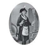 Brother George Masonic Ornament (Oval)