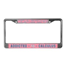 Addicted to Calculus License Plate Frame
