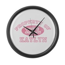 Property of Kaylyn Large Wall Clock