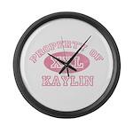 Property of Kaylin Large Wall Clock
