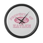 Property of Kaylen Large Wall Clock