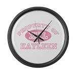 Property of Kayleen Large Wall Clock