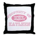 Property of Kayleen Throw Pillow