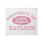 Property of Kayleen Throw Blanket