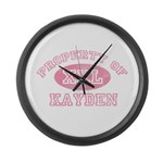 Property of Kayden Large Wall Clock