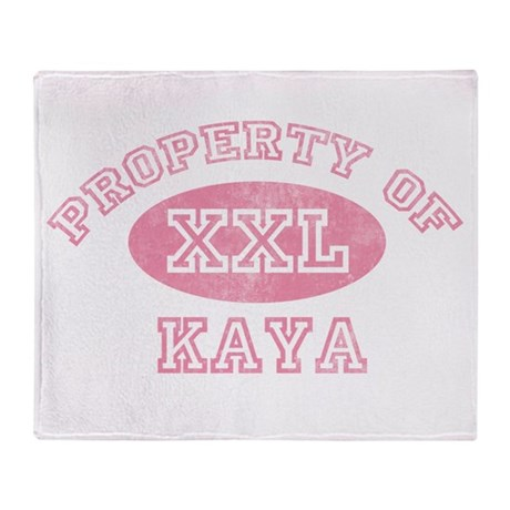 Property of Kaya Throw Blanket