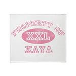 Property of Kaya Throw Blanket