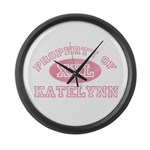 Property of Katelynn Large Wall Clock
