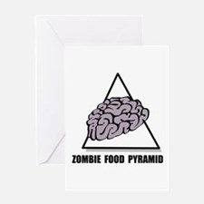 Zombie Food Pyramid Greeting Card