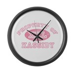 Property of Kassidy Large Wall Clock
