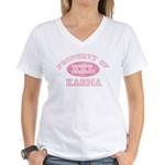 Property of Karma Women's V-Neck T-Shirt