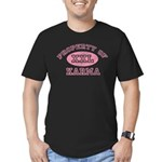 Property of Karma Men's Fitted T-Shirt (dark)