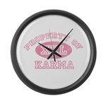 Property of Karma Large Wall Clock