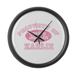 Property of Karlie Large Wall Clock