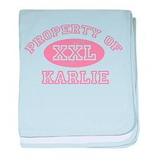 Property of Karlie baby blanket