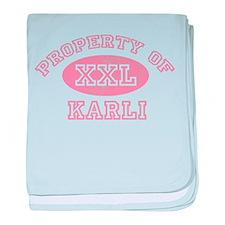 Property of Karli baby blanket