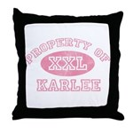 Property of Karlee Throw Pillow