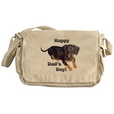 Happy Dad's Day Dachshund Messenger Bag