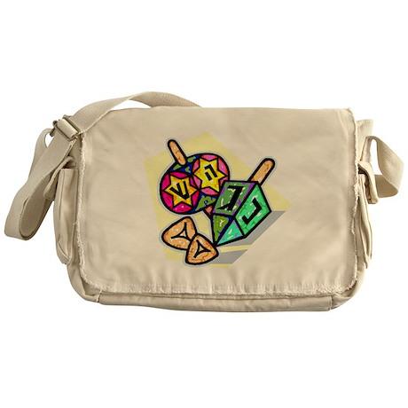 Jewish Dreidels Messenger Bag