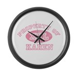 Property of Karen Large Wall Clock