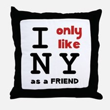 I Like NY Throw Pillow