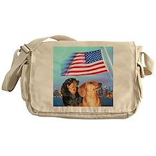 USA Dachshunds Messenger Bag