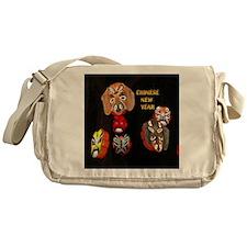 Chinese Masks Messenger Bag