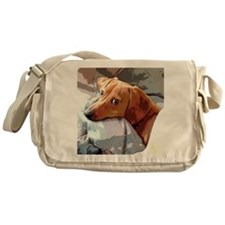 Naptime Alone Doxie Messenger Bag