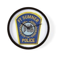 Fort Sumner Police Wall Clock