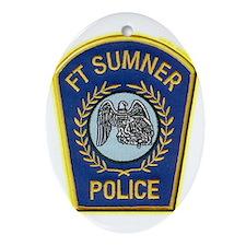Fort Sumner Police Ornament (Oval)