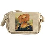 Mona Dachshund Messenger Bag