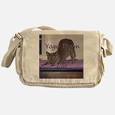 Yoga Down Cat Messenger Bag