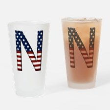 N Stars and Stripes Drinking Glass