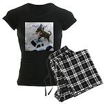 Chihuahua Trucker Women's Dark Pajamas