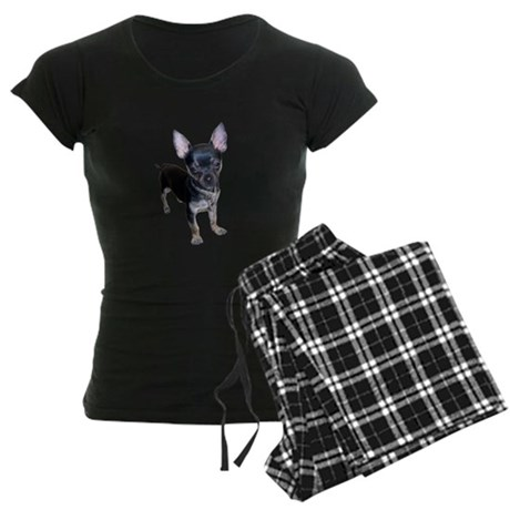 Black Chihuahua Women's Dark Pajamas