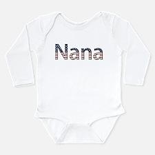 Nana Stars and Stripes Long Sleeve Infant Bodysuit