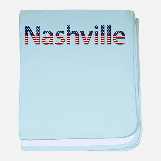 Nashville Stars and Stripes baby blanket