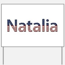 Natalia Stars and Stripes Yard Sign