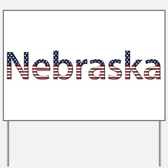Nebraska Stars and Stripes Yard Sign
