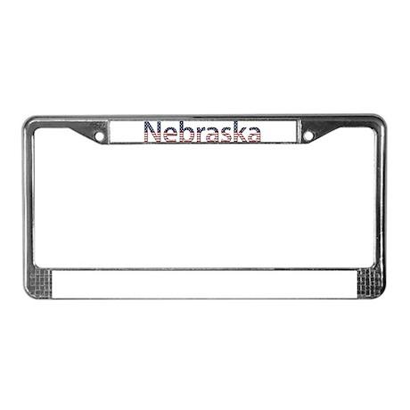 Nebraska Stars and Stripes License Plate Frame