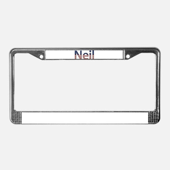Neil Stars and Stripes License Plate Frame