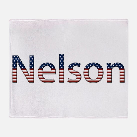 Nelson Stars and Stripes Throw Blanket