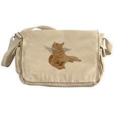 Orange Angel Cat Messenger Bag