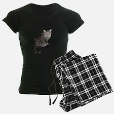 Gray Stripped Cat Pajamas