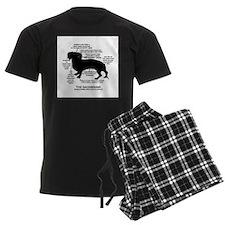Dachshund Chart Pajamas