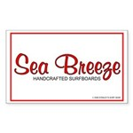 Sea Breeze Surfboards Rectangle Sticker